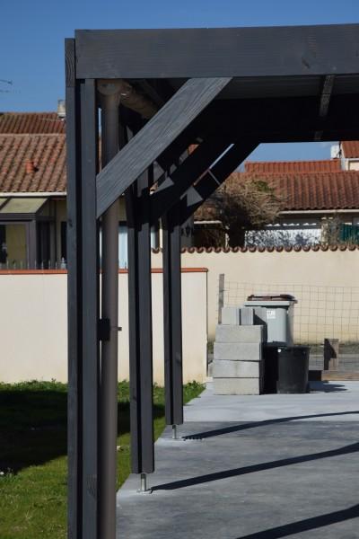 structure toit plat couverte en bac acier. Black Bedroom Furniture Sets. Home Design Ideas