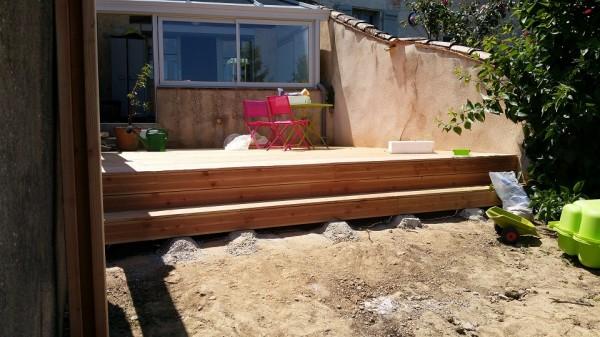 terrasse complète à niveau